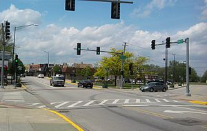 Lansing, Illinois - Ridge Road in downtown Lansing
