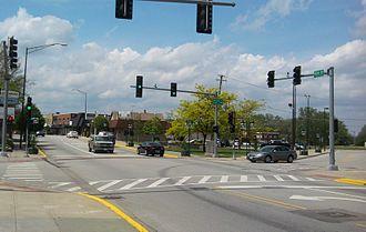 Lansing, Illinois - Ridge Road in downtown Lansing