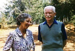 Algernon Stanley Smith - Dr and Mrs A C Stanley-Smith at Kibuye, Rwanda September 1955