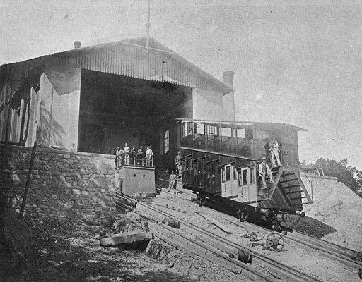 Drahtseilbahn Leopoldsberg-Bergstation 02-1873