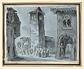 Drawing, Stage Design, Street with Procession, early 19th century (CH 18541645).jpg