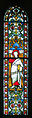 Dublin Christ Church Cathedral Passage to Synod Hall Window Salvator Mundi with the Apostles Right Light Saint Paul 2012 09 26.jpg
