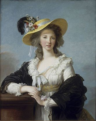 Yolande de Polastron - Portrait by Elisabeth Vigée-Lebrun, 1782