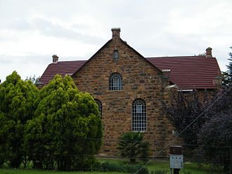 "Dullstroom - The Dullstroom ""Hervormde Kerk"", Afrikaans for 'Reformed Church'"