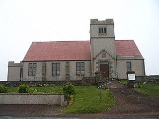 Dunrossness parish in Shetland Islands