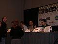 Dunstan Orchard, Matthew Mullenweg, Jay Allen, Tantek Celik at SXSW 2005.jpg