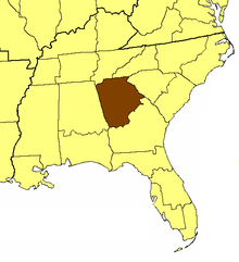 Location of the Diocese of Atlanta