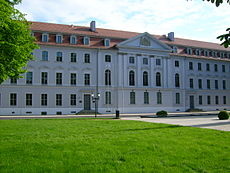 The University's main building.