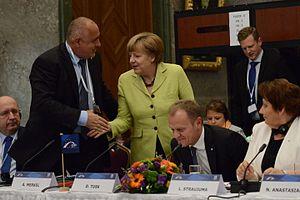 Boyko Borisov - Boyko Borisov and Angela Merkel