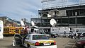 ESPN taking over the Cubs players parking lot (5196255191).jpg