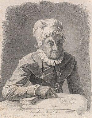 Caroline Herschel - Lithograph of Herschel, 1847