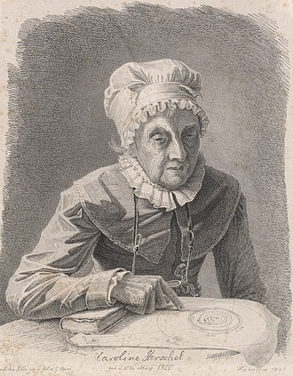 Caroline Herschel - 1847 lithograph of Caroline Herschel around 97 years of age