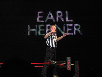 Earl Hebner - Earl Hebner at a TNA wrestling house show in July 2010