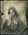 Early ambrotype, restoration step 2 (front, seen as positive) (6090397982).jpg