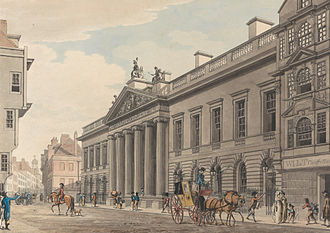 East India Company - East India House, London, painted by Thomas Malton in c.1800