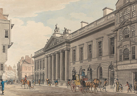 The expanded East India House, London, painted by Thomas Malton in c.1800 East India House by Thomas Malton the Younger.jpg