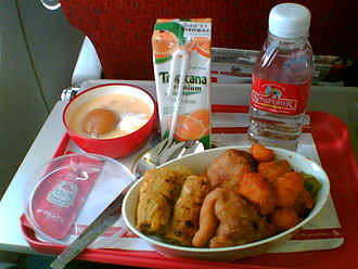 Kingfisher Airlines - Economy class meal on board a Kingfisher Airlines domestic flight