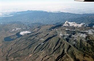 Cotacachi Volcano - Aerial view of Cotacachi