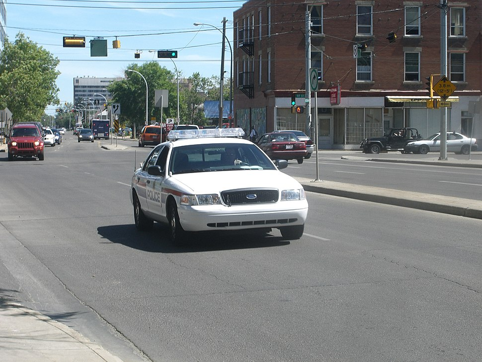 Edmonton Police Service vehicle on patrol