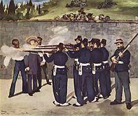 El fusilamiento de Maximiliano I, por Edouard Manet.