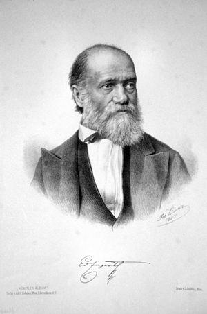Eduard von Engerth - Eduard von Engerth (1887).  Lithograph by Josef Anton Bauer (1820-1904)