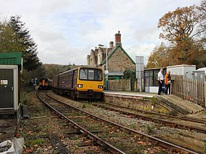 Eggesford railway station - A train to Exmouth