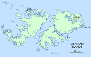 Puerto Soledad - Location of Puerto Soledad, Falkland Islands