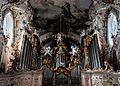 Ehemalige Kloster Stitfskirche Rottenbuch im Allgäu. Der Orgelprospekt mit der Orgel von Balthasar Freiwiß (9718798120).jpg