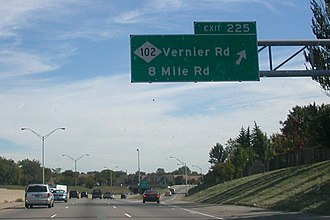 Eminem lived on 8 Mile Road in Detroit Eight Mile Road.jpg