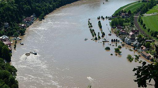 Teaserfoto Elbehochwasser 2013, Quelle: Dr. Bernd Gross, Wikimedia Commons