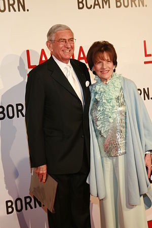 Principle Donors Eli and Edith Broad arrive at...