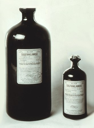 Pharmaceutical industry - In 1937 over 100 people died after ingesting a solution of the antibacterial sulfanilamide formulated in the toxic solvent diethylene glycol