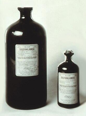 Elixir sulfanilamide - Bottles of Elixir Sulfanilamide