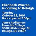 Elizabeth Warren is coming to Raleigh.jpg