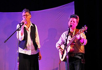 Emma Bull - Emma Bull and Lojo Russo at Cats Laughing reunion concert, April 2015