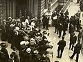 Emmeline Pankhurst and Emmeline Pethick Lawrence leaving court, c.1908-1912. (22910553752).jpg