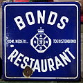 Enamel advertising sign, ANWB Bonds Restaurant, Langcat Bussum.JPG
