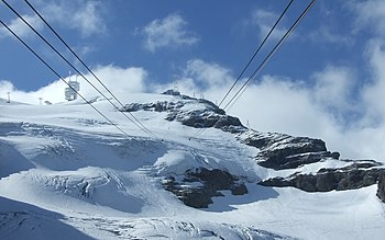 English: Engelberg-Titlis cableway (wallpaper)
