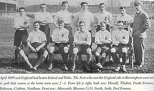 Harry Thickett - Thickett in an England team photo of 1899.