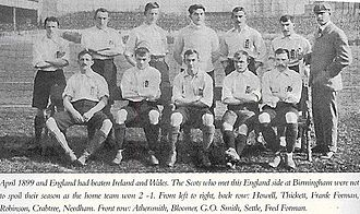 Harry Thickitt - Thickitt in an England team photo of 1899.