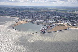 Great Yarmouth Outer Harbour - Aerial photograph of Great Yarmouth Outer Harbour, 2011