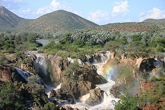 Angola - Epupa Falls, Cunene River on the border of Angola and Namibia.