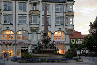 Friedrich Heinrich Stöckhardt - Fountain at the Anger, Erfurt's main place