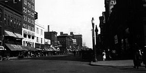 History of Erie, Pennsylvania - State and 9th Street in downtown Erie during the early 1920s.