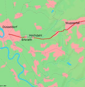Section of the Düsseldorf – Elberfeld railway line