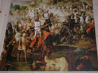 Spanish military orders - Scenes of the Reconquista by the military orders. Monasterio de Uclés, Cuenca