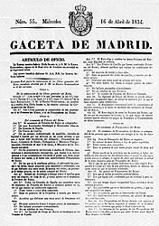 Estatuto Real 1834-Gaceta de Madrid.jpg