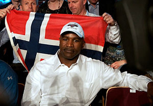 Evander Holyfield at the Herning Kongrescenter...