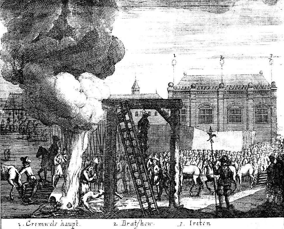 Execution of Cromwell, Bradshaw and Ireton, 1661