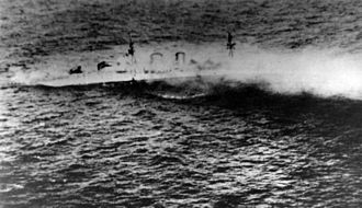 HMS Exeter (68) - Exeter sinking after the Second Battle of the Java Sea